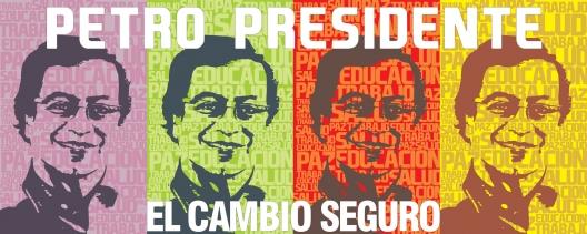 Cartel multicolor_Gustavo Petro_Polo democratico alternativo_presidencial colombia_2010