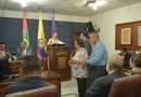 CONCEJO DE SOCORRO (S) REALIZARON A LUIS SÁNCHEZ COMINOS Y  LUZ ALBA PORRAS EXALTACIÓN