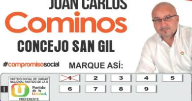 NUEVA POLÉMICA POR AVAL AL CONCEJO DE JUAN CARLOS SÁNCHEZ COMINOS